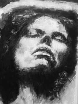 Acryl Black and white sketch