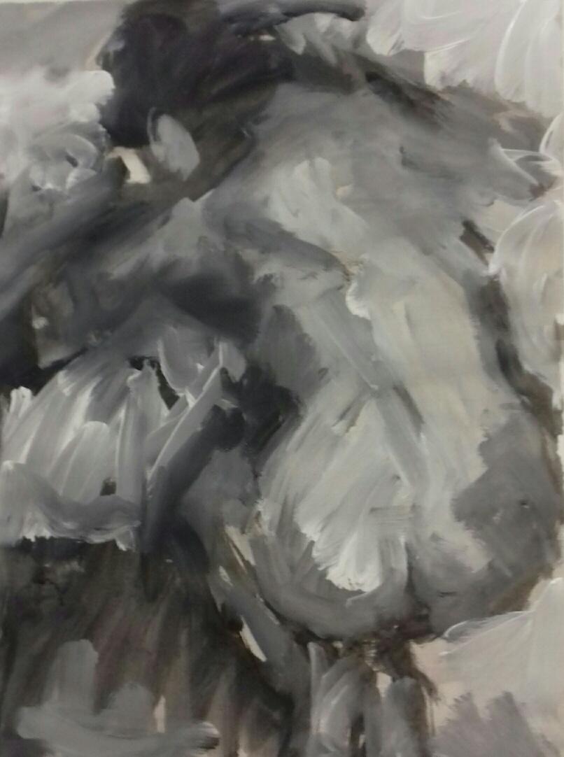 Nude Black White
